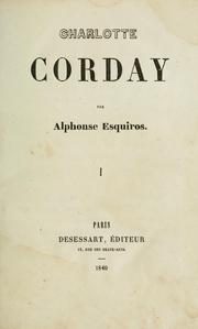Cover of: Charlotte Corday