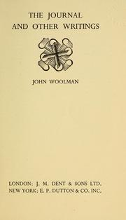 Cover of: The journal, with other writings of John Woolman