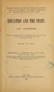 Cover of: The obligation of the state to provide for the education of its citizens