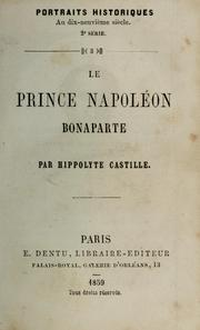 Cover of: Le prince Napoléon Bonaparte