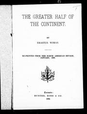 Cover of: The greater half of the continent