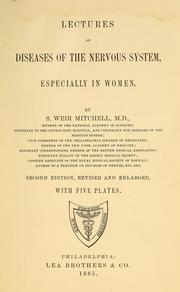 Cover of: Lectures on diseases of the nervous system, especially in women