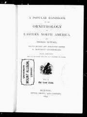 Cover of: A popular handbook of the ornithology of eastern North America