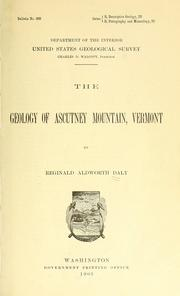 Cover of: The geology of Ascutney Mountain, Vermont