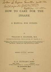 Cover of: How to care for the insane