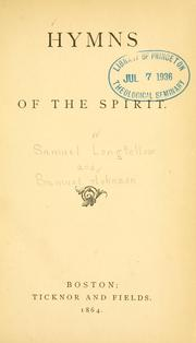 Cover of: Hymns of the spirit