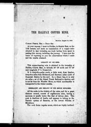 Cover of: The Halifax copper mine
