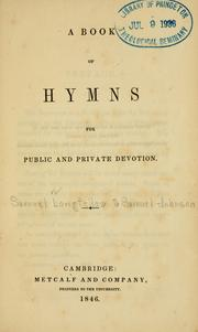 Cover of: Book of hymns for public and private devotion