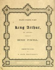 Cover of: Dryden's opera of King Arthur