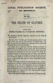 Cover of: The death of slavery