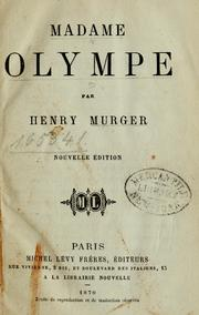Cover of: Madame Olympe