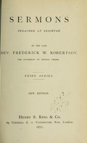 Cover of: Sermons preached at Brighton
