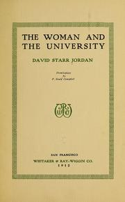Cover of: The woman and the university