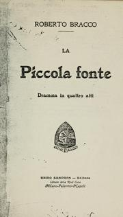 Cover of: La piccola fonte