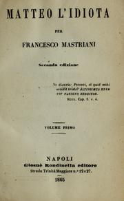 Cover of: Matteo l'idiota