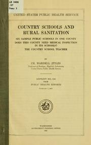 Cover of: Country schools and rural sanitation