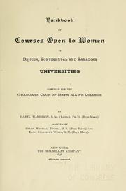 Cover of: Handbook of courses open to women in British, continental and Canadian universities