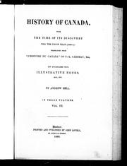 Cover of: History of Canada