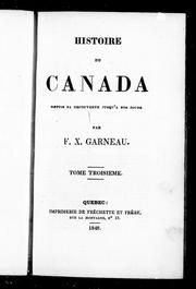Cover of: Histoire du Canada
