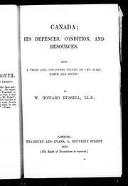Cover of: Canada, its defences, condition, and resources