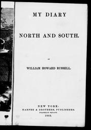 Cover of: My diary, north and south