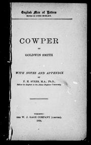 Cover of: Cowper