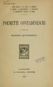Cover of: Poemetti contadineschi
