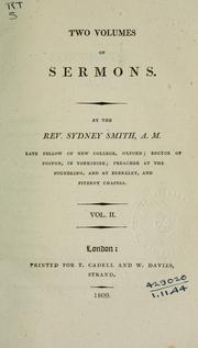 Cover of: Sermons