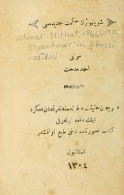 Cover of: openhauer'in hikmet-i cedidesi