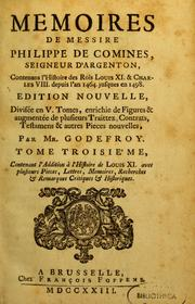 Cover of: Mémoires de Messire de Comines--