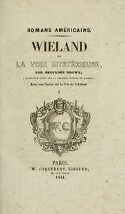Cover of: Wieland