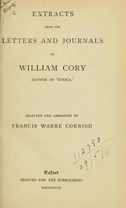 Cover of: Extracts from letters and journals