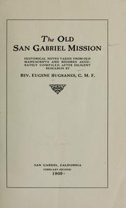 Cover of: The old San Gabriel Mission