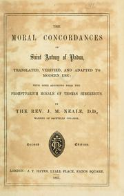Cover of: The moral concordances of Saint Anthony of Padua