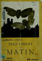 "Cover of: Tres lineas del ""Matin"""
