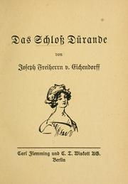 Cover of: Das Schloß Dürande
