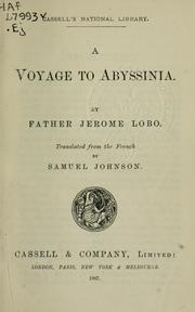 Cover of: A voyage to Abyssinia