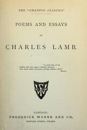 Cover of: Poem and essays