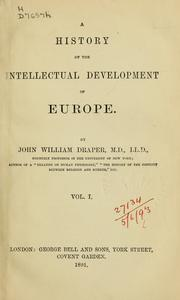 Cover of: History of the intellectual development of Europe