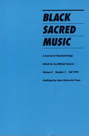 Cover of: Black Sacred Music