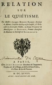 Cover of: Relation sur le Quiétisme