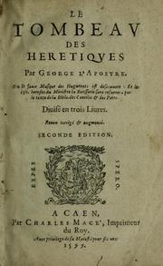 Cover of: Le tombeau des heretiques
