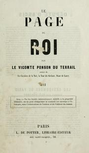 Cover of: Le page du roi