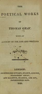 Cover of: The poetical works, with an account of the life and writings of the author