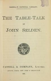 Cover of: Table talk