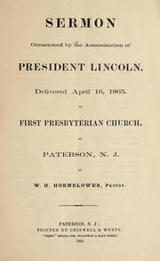 Cover of: Sermon occasioned by the assassination of President Lincoln
