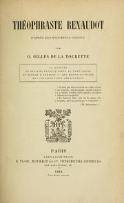 Cover of: Théophraste Renaudot