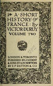 Cover of: A short history of France