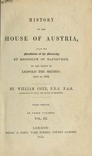 Cover of: History of the House of Austria