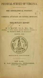Cover of: Physical survey of Virginia